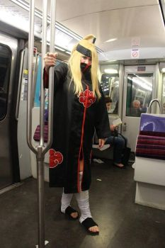 deidara in Paris in the Subway by poulpynk