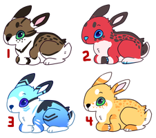 Bunny Adoptables [ CLOSED ] by TangerineAdopts
