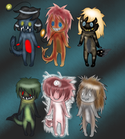 Deep Sea Fish Adoptables -Closed- by PlagueDoc3