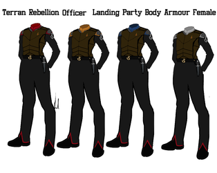 Terran Rebellion Officers Female Body Armour by docwinter