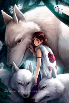 Princess Mononoke by elisetrinh