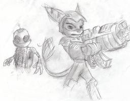 Ratchet and Clank by wegs