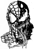 venom and spiderman by darkartistdomain