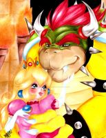 Bowser and his princess by selene-nightmare69