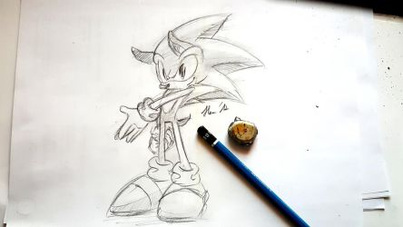 Sonic sketch and video by shadowhatesomochao