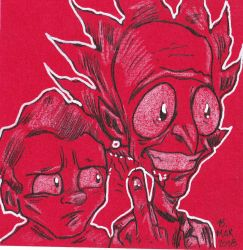 Rick and Morty Red Card Edition by jacksony22