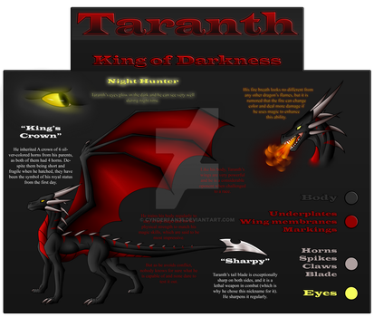 Taranth Ref Sheet by cynderfan35