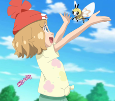 Serena and Ribombee