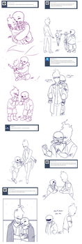 Sansby ask sketchdump by Kare-Valgon