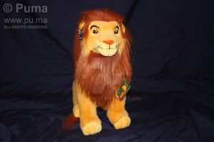 Adult Simba plush by Applause by dapumakat