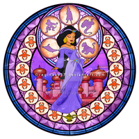 Princess Jasmine - Kingdom Hearts Stain Glass by reginaac57