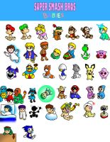 Super Smash Bros Babies by streetgals9000