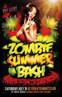 ZOMBIE SUMMER BASH  PSD FLYER by Industrykidz