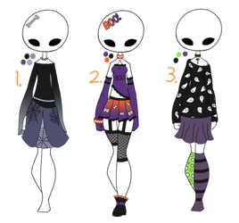 1/3 Open - Adopt Batch 14 - Halloween Outfits by Adopts-and-Designs