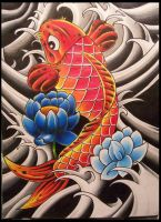 Koi Drawing by ritch-g