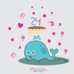 Happy 24th Birthday to My Whale by DinoCacktus