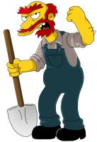 Groundskeeper Willie. by Simpsons-Addict