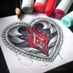 Iron Heart Tattoo Design by Kalypsa-Tattoo