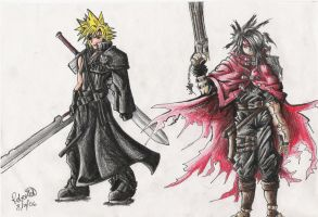 Cloud and Vincent by GraphiteFalcon