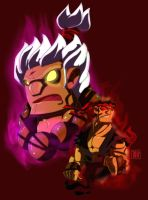 Contest Entry: Gouki and Ryu by CheungKinMen