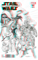 Star Wars The Force Awakens by Mike Mayhew in 3D by xmancyclops