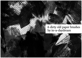 Dirty Old Newspaper Brushes by in-a-daydream