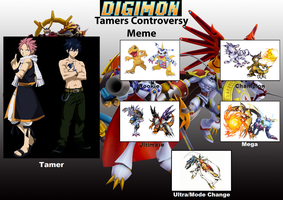 Digimon Tamers Natsu Dragneel and Gray Fullbuster by Wyvernsaurus
