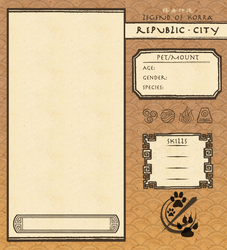 Republic City Pet/Mount Template by Psyoren