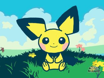 Pokemon Art Academy - Pichu by GamerGyrl