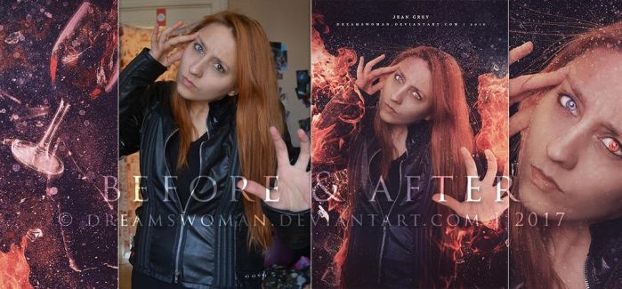Jean Grey - Before and After by dreamswoman