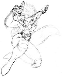 Action pose for Eve - WIP by Pegasus316