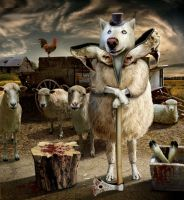 Wolf in sheeps clothes by funkwood
