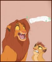 Kion and his Gassy Father by Credens-Vita