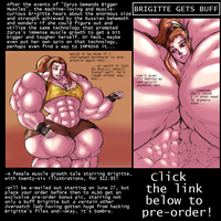 Brigitte Gets Buff (in-color-just-for-fun version) by Saxxon