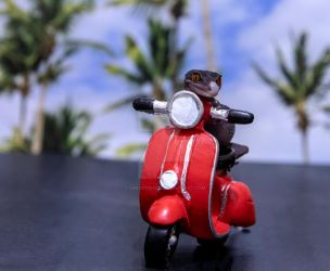Sabbath - Red Moped Ride - 7132 by creative1978