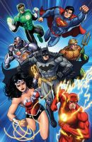 Justice League by Dan-the-artguy