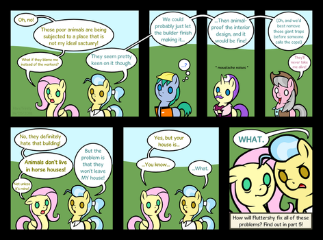 Fluttershy Leans In part 4 - The bad house by HareTrinity