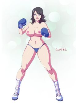 Claire Underground Boxing Gear by deadpoolthesecond
