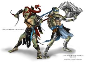 TMNT VENUS and LAROTA 2014 by propimol