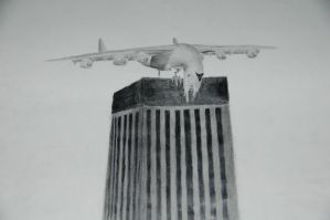 Killer An-225 on a building by concaholic