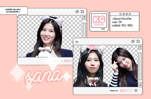 TWICE|SANA|PACK PNG by KoreanGallery