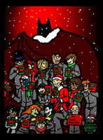Undercover Arkham Christmas Poster by Jennisms