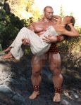 Hercules and Deianira: Swept off her feet by SimonWM