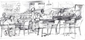a coffee shop sketch by johnercek