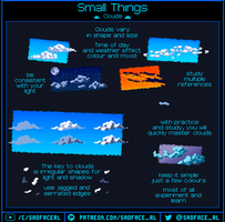 How to pixel art - Clouds by SadfaceRL