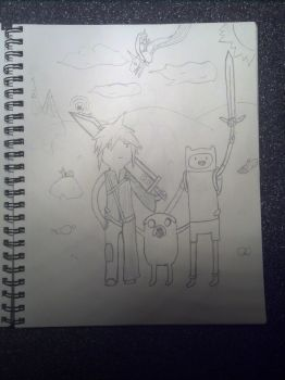 Adventure Time starring Cloud Strife! by ecc0w0lf
