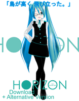 .:Model DL:. LAT Style HORIZON Miku by MMDAnimatio357