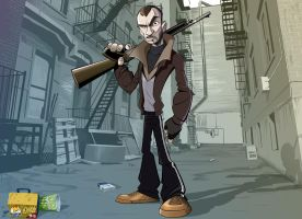 Niko Bellic - cartoon style by PatrickBrown