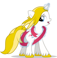 Melody Shade Cleverly Uses A Ribbon To Hide Her... by Emkay-MLP