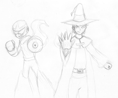 Mage and Proto _-SKETCH-_ by JonCausith